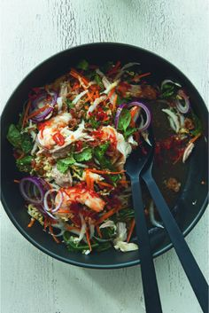 Neil Perry's Quick Vietnamese Chicken and Prawn Coleslaw