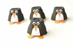 These egg carton penguins are such a fun winter craft that they can make with the kids! And… - Upcycled Crafts DIY Bee Crafts, Preschool Crafts, Kids Crafts, Crafts To Make, Winter Crafts For Kids, Winter Kids, Diy For Kids, Arts And Crafts Projects, Projects For Kids
