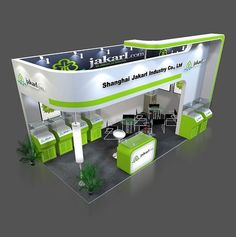green booth:
