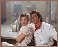 "Michelle Pfeiffer & Al Pacino "" Frankie and Johnny "" , 1991 John Travolta, Don G, Frankie And Johnny, Image Film, Delon, Patrick Swayze, Paris Match, Film Serie, The Godfather"