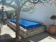 Pool Intex Above Ground Pools, In Ground Pools, Swimming Pool Decks, Swimming Pool Designs, Piscina Intex, Stock Tank Pool, Pool Hacks, Intex Pool, Mini Pool