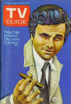 TV Guide, March 25, 1972 — Peter Falk in Columbo (1968-78, NBC & 1989-2003, ABC)