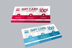 Modern Gift Card #design Download: https://thehungryjpeg.com/product/20441-modern-gift-card/