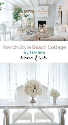 Home Interior Livingroom A French cottage by the sea home tour with lots of pastels that is simply gorgeous! Interior Livingroom A French cottage by the sea home tour with lots of pastels that is simply gorgeous! Shabby Chic Interiors, Beautiful Interiors, Shabby Chic Decor, Beautiful Homes, French Interior, French Decor, French Country Decorating, French Cottage Decor, Cottage Ideas