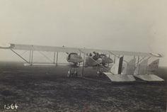 """1916 - Vue de """"Caudron Bi-moteur"""" - Section de photographie aérienne du groupe des escadrilles du camp retranché de Paris"""