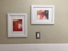 Silk Paintings in the Bathroom