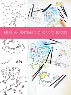 Printable Valentine Coloring Book Pictures for Kids | Kids colouring ...