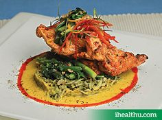 #HealthyRecipe Brown Rice Pulao with Baked Chicken: Nutritious and protein-filled lunch option