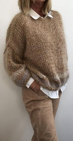 Ideas For Crochet Sweater Winter Knitting Patterns Winter Knitting Patterns, Knitting Designs, Knit Patterns, Cardigan Fashion, Knit Fashion, Fashion Outfits, Style Fashion, Girl Outfits, Fashion Trends