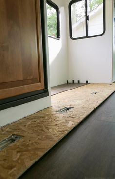 Tips to replace the flooring Inside an RV slide out/ Planning to replace the flooring in your RV or camper? After some trial and error we are sharing some tips to replace the flooring Inside a RV slide out