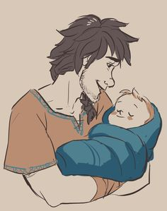 Hiccup and his baby