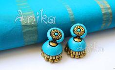 Diy Jewelry, Jewelry Design, Terracotta Jewellery Designs, Terracotta Earrings, Fashion Jewellery, Handmade, Hand Made, Handarbeit, Diy Jewelry Making