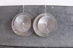Minimalist sterling silver earrings SINGLE white. $27.00, via Etsy.