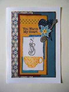 Cup of tea card.....You Warm My Heart!