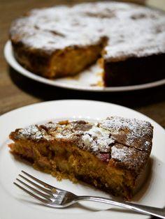 Rabarbercake met sinaasappel en marsepein (bakken) | Diana's mooie moestuin