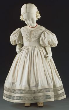 Philadelphia Museum of Art - Collections Object : Girl's Dress c. 1830 Medium: White cotton plain weave, lace