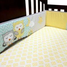 Baby's First by Nemcor Naptime Owls 4-Piece Crib Bumper - BedBathandBeyond.com