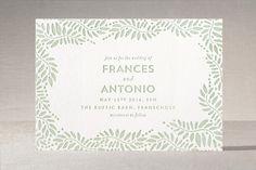Filigree Letterpress Wedding Invitations by Phrosné Ras at minted.com (in gold)