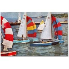 Trademark Fine Art After the Regatta Canvas Art by Michelle Calkins, Size: 12 x 19, Multicolor