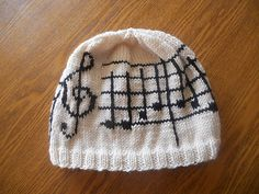 Ode to Joy Hat Free pattern. This is very cute!!! Maybe with the piano scarf I saw the other day :)