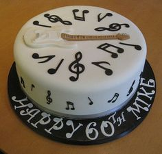 A classic cake from Iced Magic is the perfect way to celebrate any occasion. Each cake is individually designed and created to suit your needs. Music Themed Cakes, Music Cakes, Bolo Fondant, Fondant Cakes, Boys 18th Birthday Cake, Bolo Musical, Piano Cakes, Guitar Cake, Partys