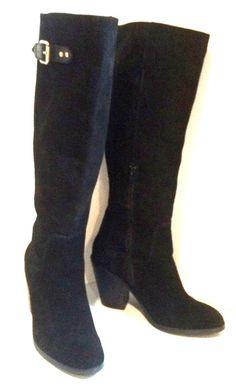 Kelsi Dagger January Tall Boot in Black Cow Suede, Size 7, NWOB, Orig $224.99 #KelsiDagger #FashionKneeHigh