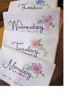 Simple tea towels