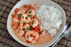 Mel's Kitchen Cafe | Garlic Shrimp in Coconut Lime Tomato Sauce {Quick and Healthy Dinner!}