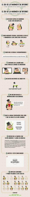 El día de la marmota en Internet Fuente: @acens #infografia #infographic