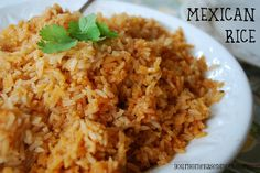 Mexican Rice: substitute vegetable broth or water for the chicken broth and use some taco sauce for more flavoring