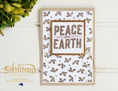Louise Sharp | Carols of Christmas - Stampin' Up! Artisan Blog Hop | Stampin' Up!  Another beautiful card using gold embossing powder!
