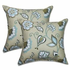 Avennious Misti Blue 22-inch Decorative Throw Pillows (Set of 2)