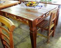 Wooden Dining Table Designs, Wooden Dining Chairs, Furniture Making, Wood Furniture, Wood Bed Design, Used Woodworking Tools, Wood Beds, Phone, Home Decor