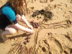 Sand Dough Sculptures (Outing to lake, get sand at beach, come back, make dough, sculpt?)
