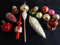 Vintage glass Christmas tree ornaments in Home, Furniture & DIY, Celebrations & Occasions, Christmas Decorations & Trees | eBay