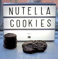 Tripple chocolate nutella cookies