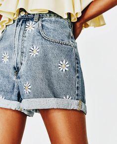 denim daisy vintage shorts