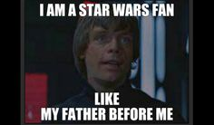 Shout out to all the dads that turned us into die hard Star Wars nerds.