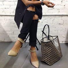 Sincerely Jules Instagram - Alexander Wang shoes & Goyard Tote Bag - #fashion