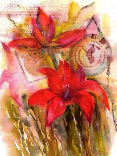 Red Amaryllis Still Life Poster by Sabina Von Arx. All posters are professionally printed, packaged, and shipped within 3 - 4 business days. Bulb Flowers, Red Flowers, Poster Prints, Framed Prints, Art Prints, Posters, Watercolor Paintings, Watercolor Red, Still Life Art
