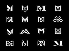 M / Eighth-Finals monogram letter m logo mark symbol Logo Inspiration, Wm Logo, Logo Branding, Corporate Branding, Website Design, Web Design, Website Logo, Brand Design, Design Ideas