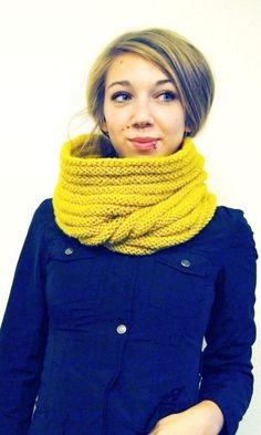 Knight's Cowl/Hood in Mustard Yellow via cobalt blue