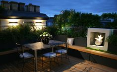 Inspiration Beautiful Decoration Rooftop Garden Ideas Modern Roof Garden  Design Ideas With Alfresco Dining Chairs With Awesome Lighting Ideas