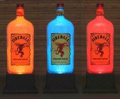 How to make a Liquor bottle Lamp Change Bottles, Bottles Lights, Colors Change, Remote Control, Cinnamon Whiskey, Liquor Bottles, Bottles Lamps Bars, Whiskey Colors, Fireball Cinnamon