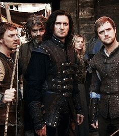 """""""He stole my horse."""" at least Gisborne knew what was important at the moment. not the fact that they just escaped certain death by hanging or that they just rescued his long lost brother. Guy Of Gisborne, Robin Hood Bbc, Robin Hoods, Happy Guy, Bbc Tv Series, Sherwood Forest, My Horse, Richard Armitage, Buffy"""