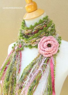 Gloria Scarf-Blush by gsakowskidesigns on Etsy Acrylic Flowers, Acrylic Colors, Diy Scarf, Warm And Cozy, Pink And Green, Blush Pink, Knit Crochet, Crochet Earrings, Weaving