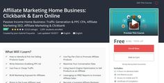 Affiliate Marketing Home Business: Clickbank & Earn Online - Free Udemy Coupon  Coupon Link : http://freecouponudemy.com/affiliate-marketing-home-business-clickbank-earn-online-free-udemy-coupon/