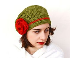 Garden and rose french Beret Remix pattern by Pinar Vardar.