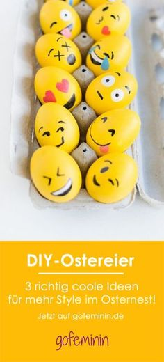 Easter basket with a difference: 3 extremely cool ideas for stylish DIY .- Osternest mal anders: 3 extrem coole Ideen für stylische DIY-Ostereier Against boredom in the Easter basket: 3 extremely cool ideas for stylish DIY Easter eggs - Diy 2019, Diy Hanging Shelves, Easter Crafts For Kids, Egg Decorating, Easter Baskets, Happy Easter, Diy Gifts, Easter Eggs, Christmas Diy