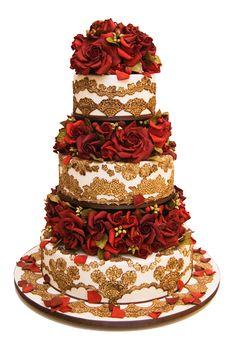 My perfect wedding cake: Perfect baker: Ron Ben Israel Wedding Cake Red, Luxury Wedding Cake, Beautiful Wedding Cakes, Beautiful Cakes, Amazing Cakes, Gold Wedding, Purple Wedding, Cupcakes, Cupcake Cakes